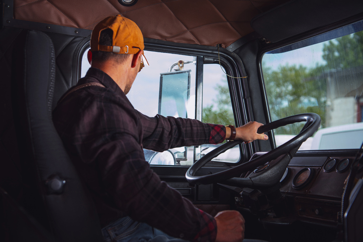 A truck driver who works for a company that focus on driver retention