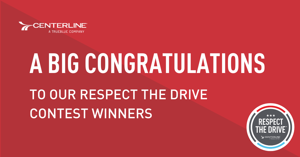 A congratulations to our Respect the Drive month winners