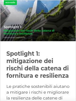 Spotlight 1: mitigazione dei rischi della catena di fornitura e resilienza