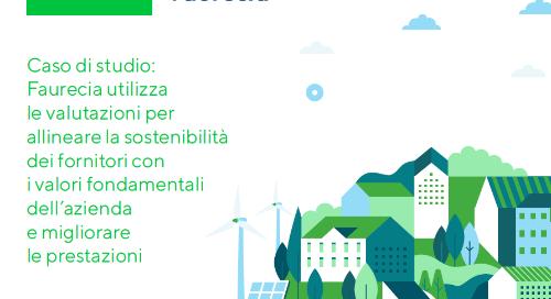 Faurecia utilizza le valutazioni EcoVadis per allineare la sostenibilità dei fornitori e migliorare le prestazioni.