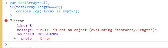 Screenshot of TypeError: null is not an object