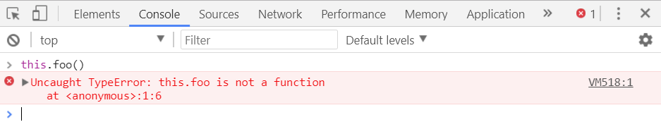 Screenshot of undefined is not a function