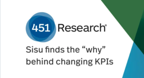 451 Research | Sisu Finds the Why Behind KPI Changes