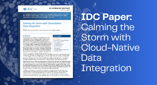 IDC Report: Calming the Storm with Cloud Native Data Integration