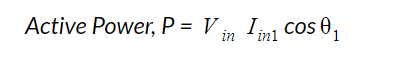 Active power equation with harmonics free