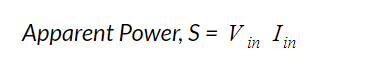 Apparent power equation for voltage in power systems
