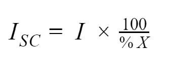 Short-circuit formula.
