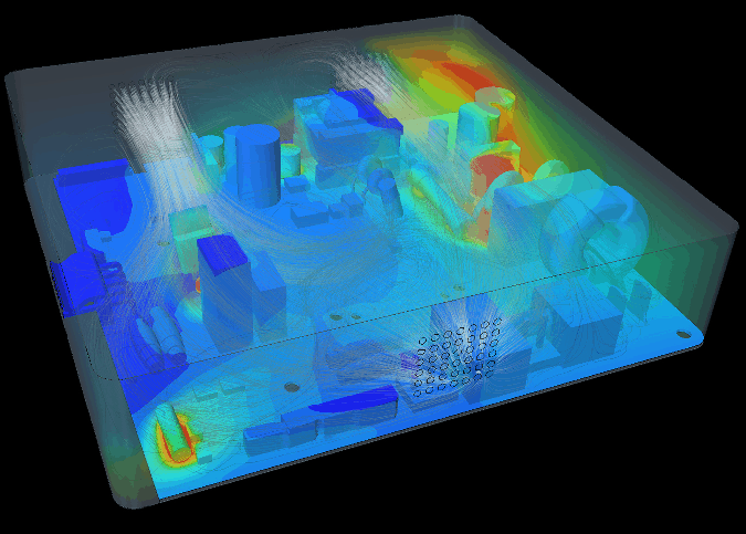 CFD analysis and simulation results