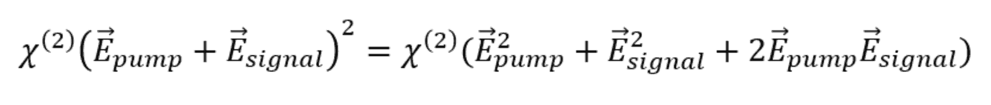 Optical parametric amplifier tensor product equation