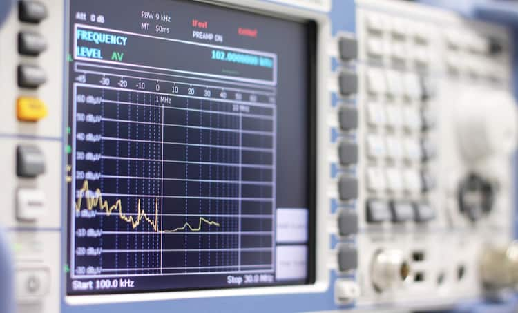 Measuring EMF noise with a spectrum analyzer