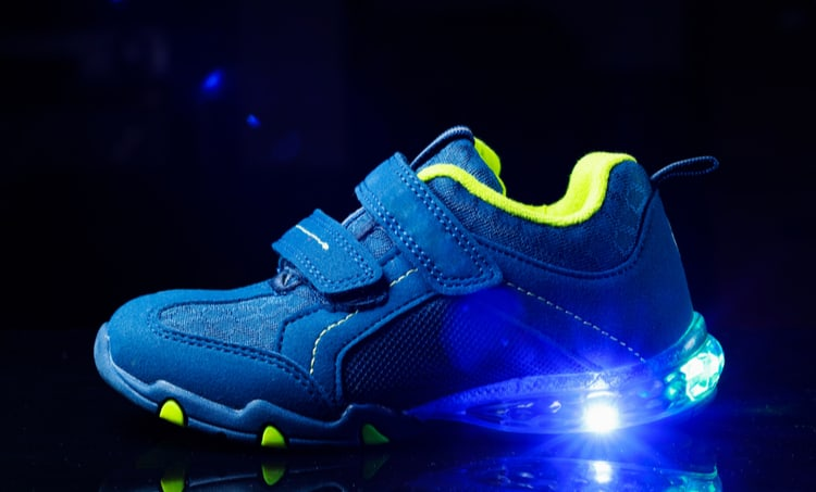 LED lights in shoes
