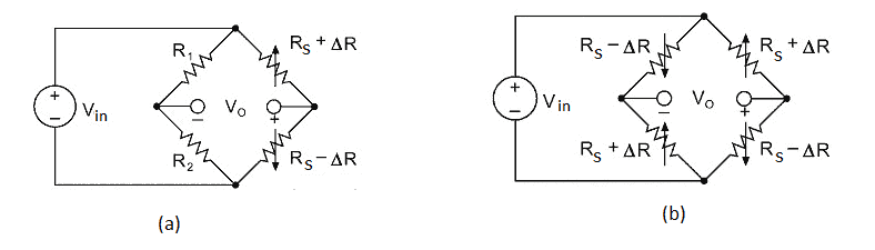 Wheatstone bridge arrangement with active-dummy compensation technique
