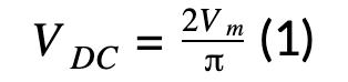 VDC=2Vm(1)