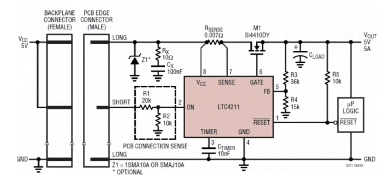 Hot-swap controller diagram