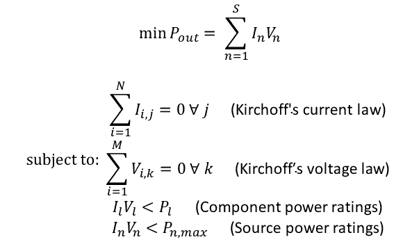 Power distribution equation
