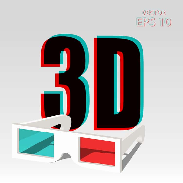 3D technology graphic