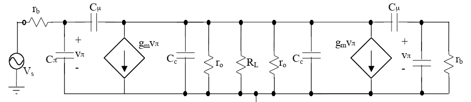 fT doubler differential amplifier small-signal model