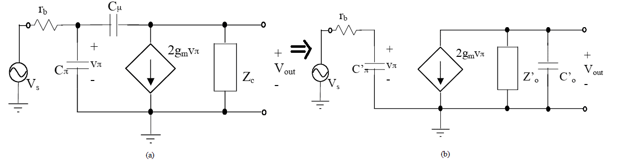 fT -doubler differential amplifier equivalent and hybrid pi topology circuit