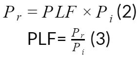 Pr=PLFPi(2)  PLF=PrPi(3)