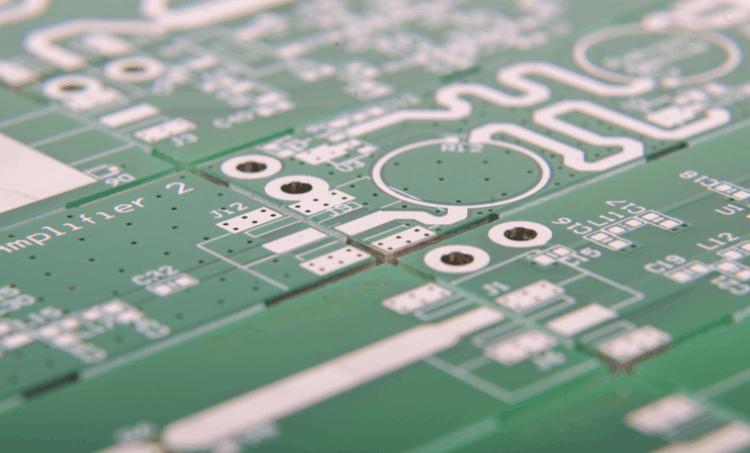 close up of PCB