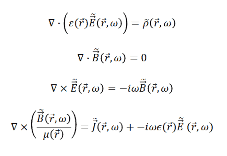 Maxwell's equations Fourier transform