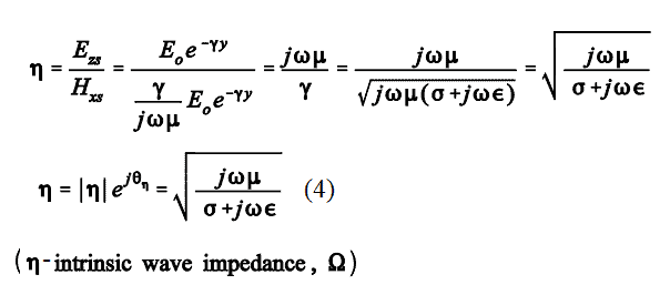 intrinsic impedance of the free space
