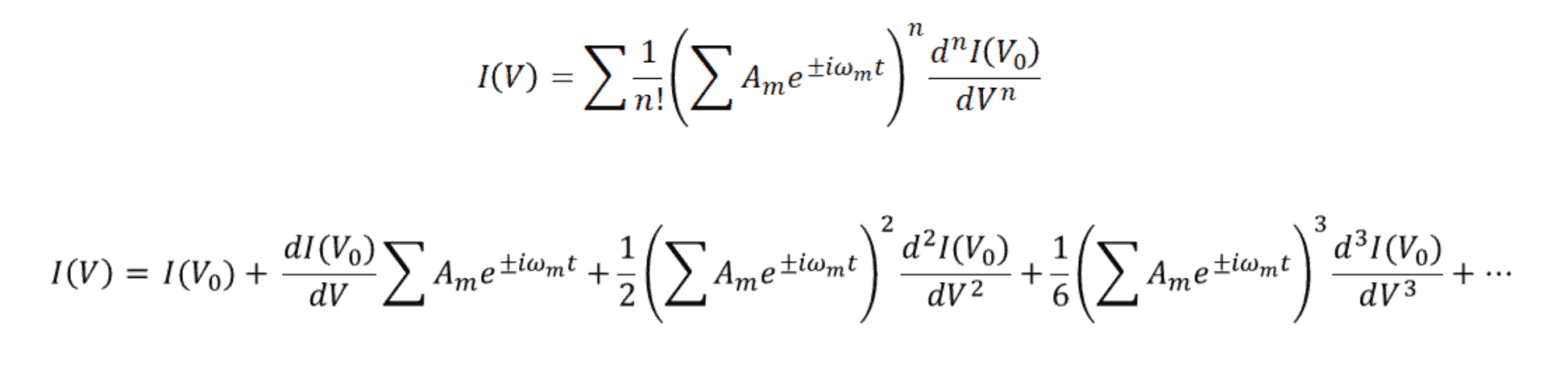 Intermodulation distortion expanded polynomial equations