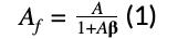 Af=A1+A𝛃(1)