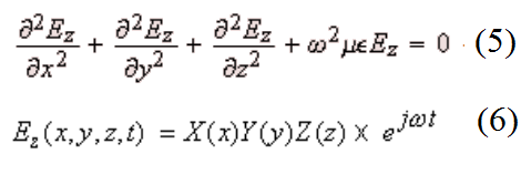 dependent components are calculated using the Hz field