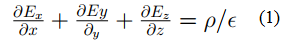 Maxwell's first equation
