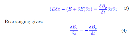 Deriving Maxwell's third and fourth equation