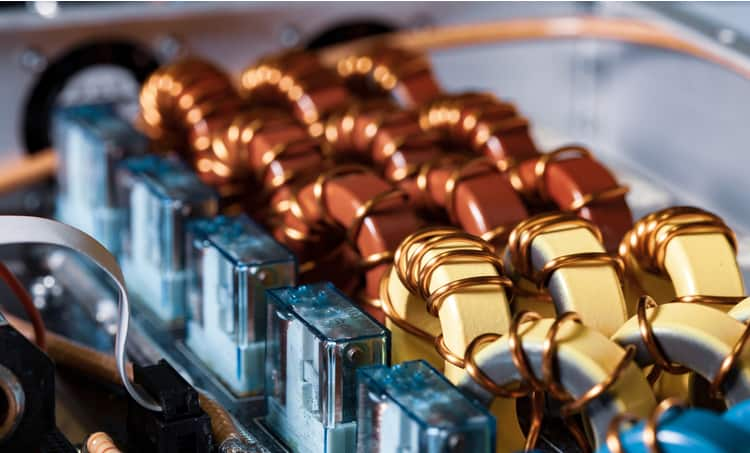 Coils used as notch filters
