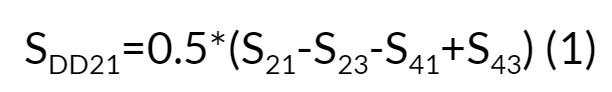 SDD21=0.5*(S21-S23-S41+S43)
