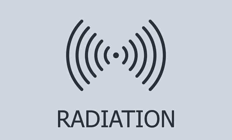 Graphic of radiation