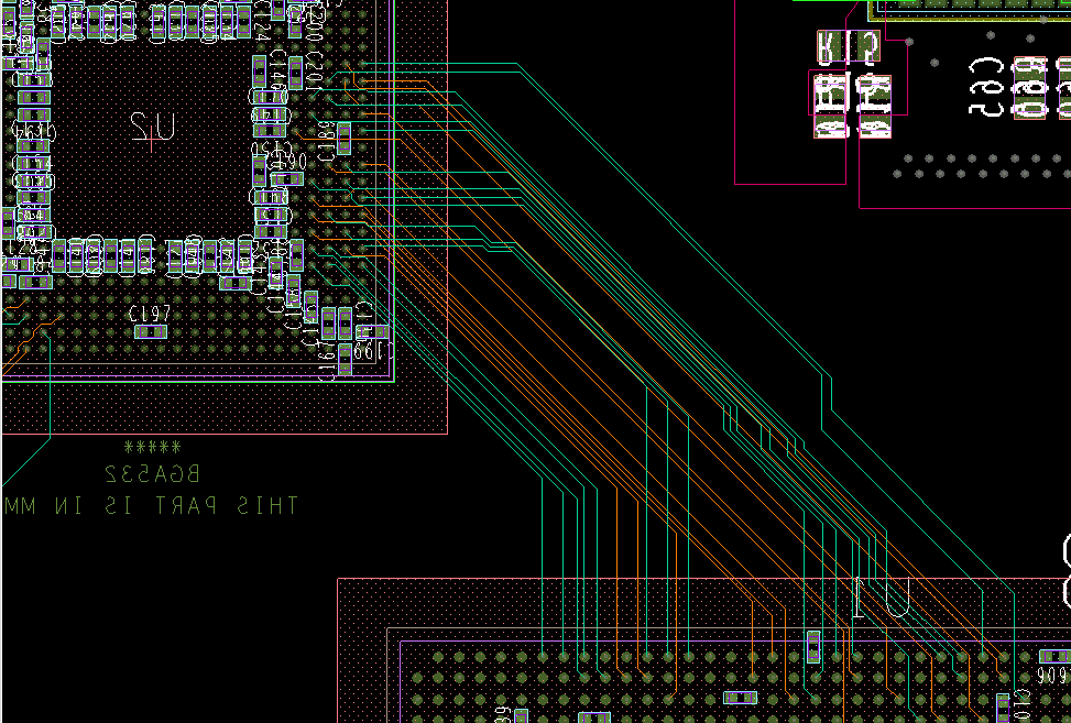 Trace routing in multilayer PCB