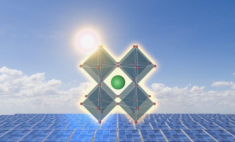 Ferroelectric perovskite solar cell