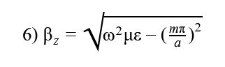 phase constant in the z-direction