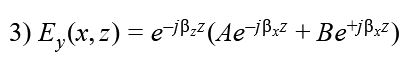where ßx and ßz are the phase constant in x and z direction