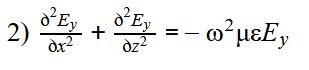 the wave equation defining TE mode reduces