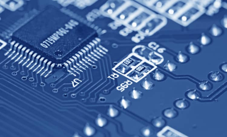 PCB closeup