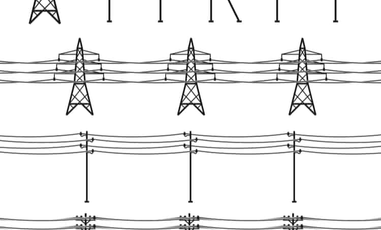 Electrical transmission line support structures