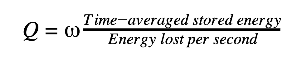 Q = W time/energy lost per sec