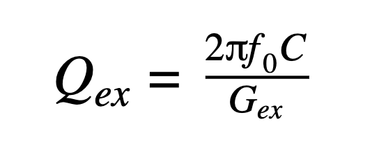 Qex=2f0CGex