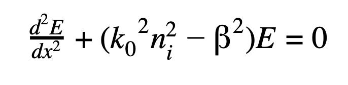 d2Edx2+(k02ni2-2)E=0