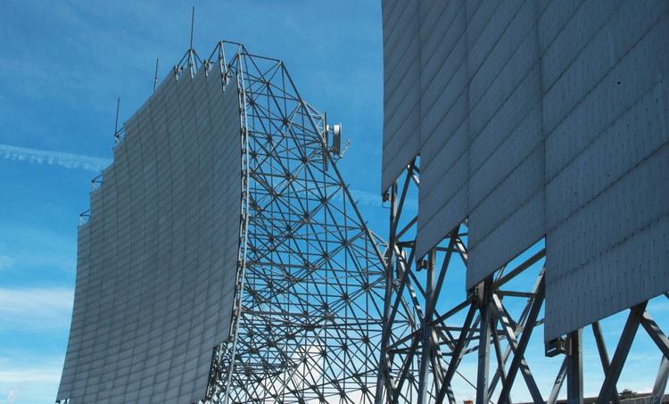 Tropospheric scatter antennas