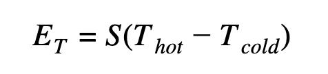 ET=S(Thot-Tcold)