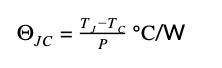 JC=TJ-TCP℃/W