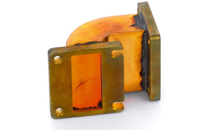 A rectangular waveguide