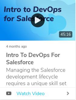 Intro to DevOps for Salesforce