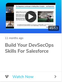 Build your DevSecOps Skills for Salesforce